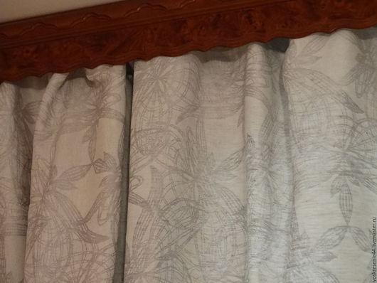 Текстиль, ковры ручной работы. Ярмарка Мастеров - ручная работа. Купить Шторы льняные жаккардовые Северина. Handmade. Серый
