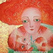 """Картины и панно ручной работы. Ярмарка Мастеров - ручная работа картина """"Мы все мечтательницы. Handmade."""