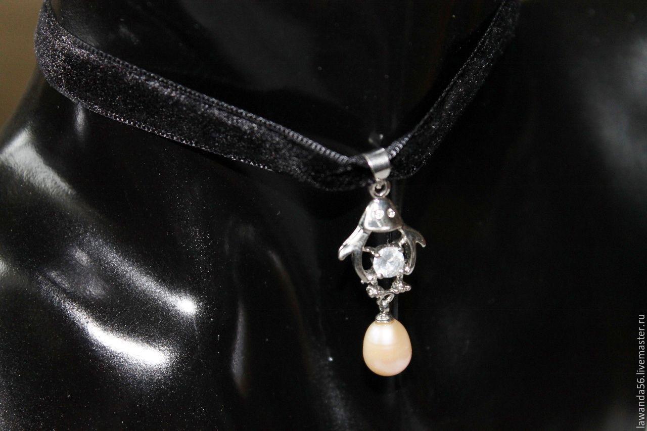 The choker-choker on the neck with a pendant Penguin, Pendants, Krasnoyarsk,  Фото №1