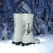 """Обувь ручной работы. Ярмарка Мастеров - ручная работа Валенки """" Первая зима котенка"""". Handmade."""