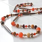 Украшения handmade. Livemaster - original item Beads average length of the Congo. Handmade.