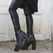 Одежда ручной работы. Ярмарка Мастеров - ручная работа Леггинсы кожаные, стильные брюки. Handmade.