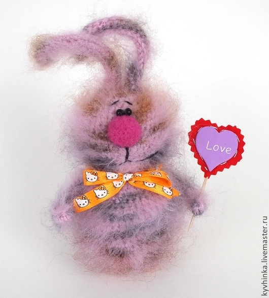 Игрушки животные, ручной работы. Ярмарка Мастеров - ручная работа. Купить Зайцы. Заяц Валентин. Handmade. Заяц, подарок