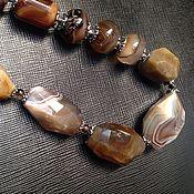 Украшения handmade. Livemaster - original item Necklace Attempt of domestication. Agate natural. Handmade.