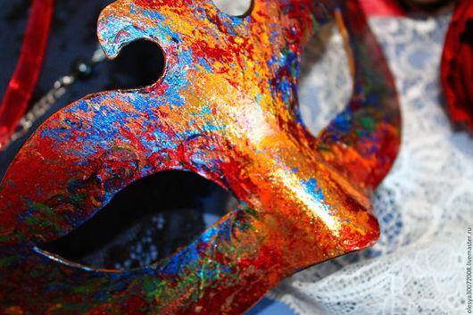 Карнавальные костюмы ручной работы. Ярмарка Мастеров - ручная работа. Купить Венецианская маска.Яркие эмоции.. Handmade. Комбинированный