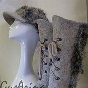 """Обувь ручной работы. Ярмарка Мастеров - ручная работа Сапожки валяные """"Любимые"""". Handmade."""