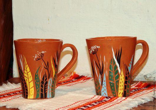 """Бокалы, стаканы ручной работы. Ярмарка Мастеров - ручная работа. Купить Бокал """"Травы"""". Handmade. Кружка в подарок, кружка для чая"""