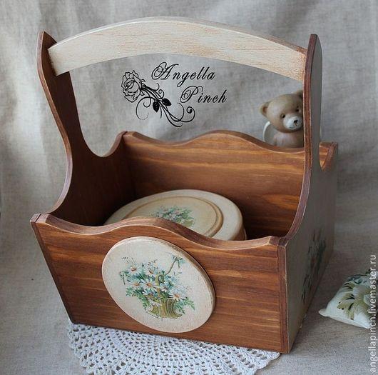 """Корзины, коробы ручной работы. Ярмарка Мастеров - ручная работа. Купить Короб """"Ромашковый мед"""". Handmade. Короб, коробка для мелочей"""