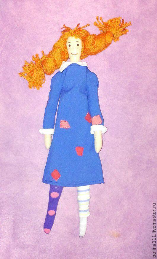 Куклы Тильды ручной работы. Ярмарка Мастеров - ручная работа. Купить Пеппи. Handmade. Тёмно-синий, Пеппи длинный чулок