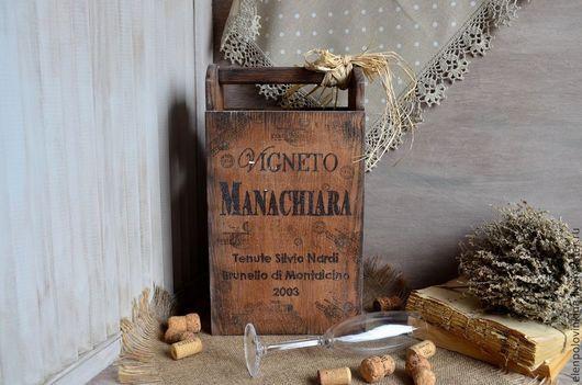 Мини-бар на три бутылки /шампанское не входит/ в стиле старого итальянского кантри.