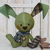 Куклы и игрушки ручной работы. Ярмарка Мастеров - ручная работа Зелёный кофейный зай. Handmade.