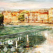 Картины и панно handmade. Livemaster - original item Photo picture view of St. Petersburg`s cityscape