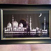 """Картины и панно ручной работы. Ярмарка Мастеров - ручная работа Вышитая картина """"Мечеть шейха Заида"""". Handmade."""
