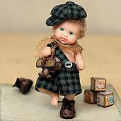 Куклы и игрушки ручной работы. Ярмарка Мастеров - ручная работа Малыш- Озорник :-)  (5см). Handmade.