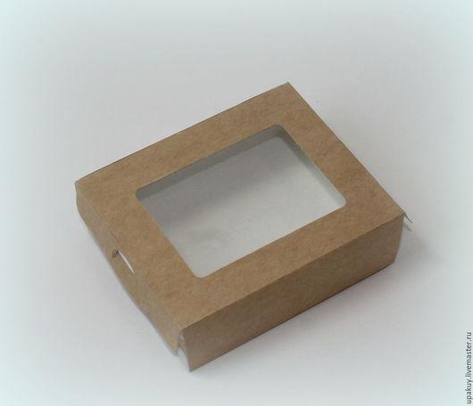 Упаковка ручной работы. Ярмарка Мастеров - ручная работа. Купить Коробочка пенал 10x8x3 см.. Handmade. Крафт упаковка