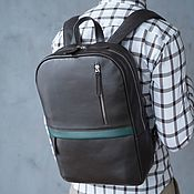 handmade. Livemaster - original item Backpack leather men