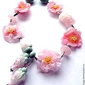 Украшения handmade. Livemaster - original item Beads Charm pink lampwork. Handmade.