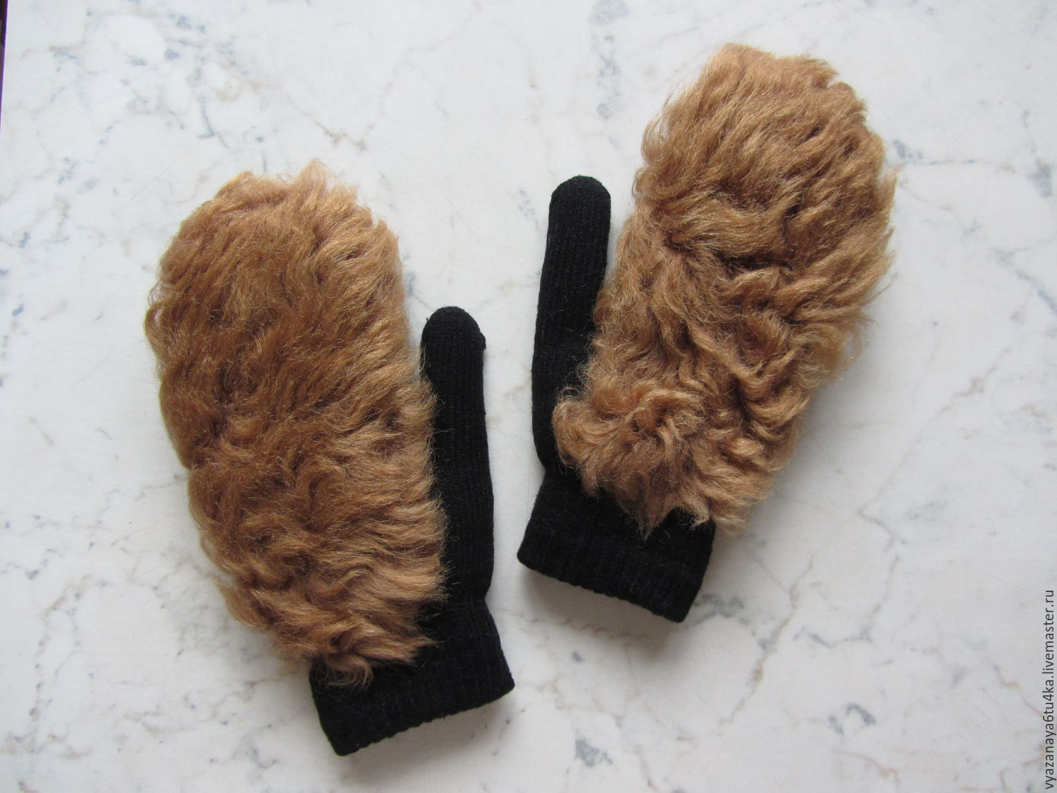 Mittens with the fur 'Alf', Mittens, Moscow,  Фото №1