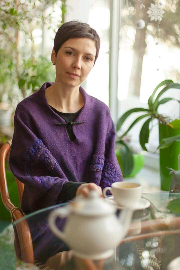 Видео МК по валянию Джемпер - туника на шаблоне Оригами+декор Маки, Войлок, Москва,  Фото №1