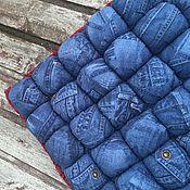 Для дома и интерьера ручной работы. Ярмарка Мастеров - ручная работа Подушка - Сидушка Blu Jeans. Handmade.