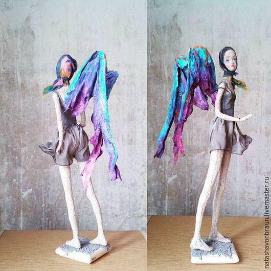Коллекционные куклы ручной работы. Ярмарка Мастеров - ручная работа. Купить На закате я встретил ангела. Handmade. Тёмно-фиолетовый