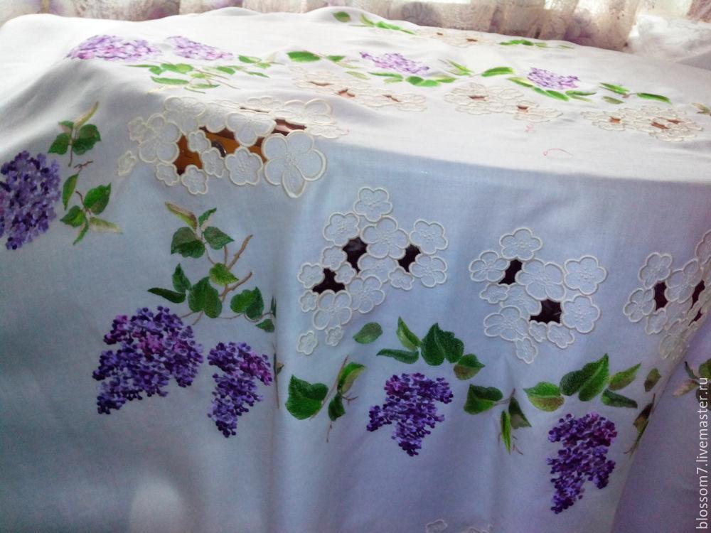 Вышивка скатертей ручной работы