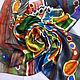 Batik, silk handkerchief ' Full bowl». Shawls1. Rudnitskaya Irina. My Livemaster. Фото №4