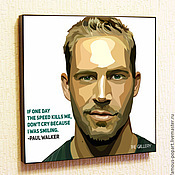 Картины и панно handmade. Livemaster - original item Painting poster Paul Walker in Pop Art style. Handmade.