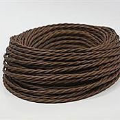 Дизайн ручной работы. Ярмарка Мастеров - ручная работа Провод витой для наружной проводки 2х0,75 коричневый. Handmade.