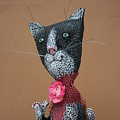 Куклы и игрушки ручной работы. Ярмарка Мастеров - ручная работа Котик Феликс с бантом. Handmade.