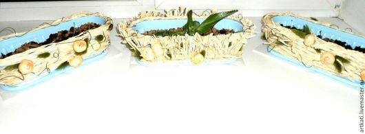 Комплект цветочных горшков `Нежность`