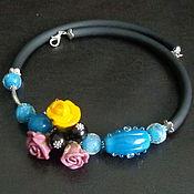 Украшения handmade. Livemaster - original item Necklace Turquoise lampwork. Handmade.