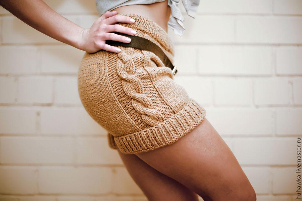 простой вязаные шорты спицами женские квартиру