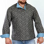 """Народные рубахи ручной работы. Ярмарка Мастеров - ручная работа Народные рубахи: Рубашки: рубашка косоворотка """"стильная"""". Handmade."""