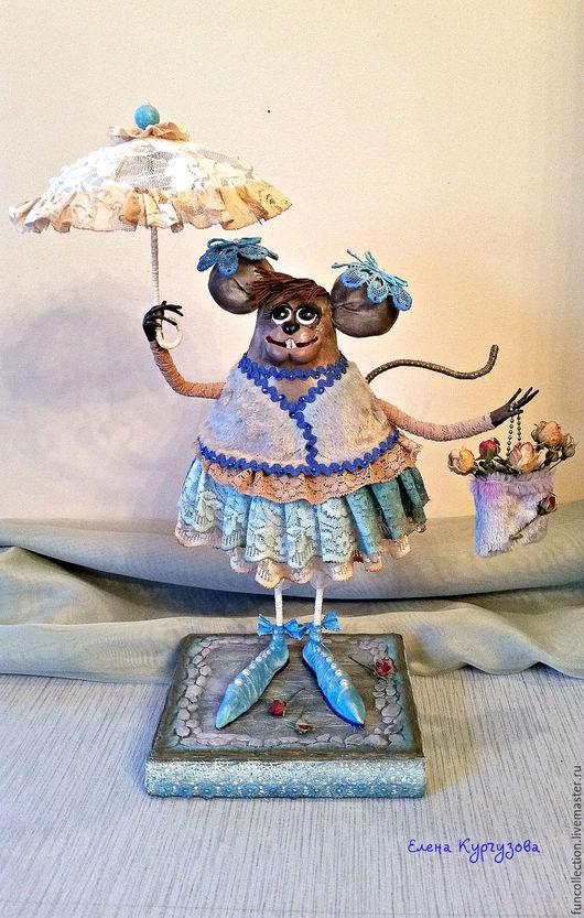 Куклы и игрушки ручной работы. Ярмарка Мастеров - ручная работа. Купить Мышь Софи в голубом.. Handmade. Голубой, крыся, стих