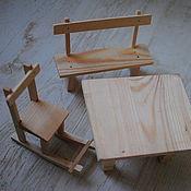 Куклы и игрушки ручной работы. Ярмарка Мастеров - ручная работа Стол, Стул и Скамейка. Handmade.