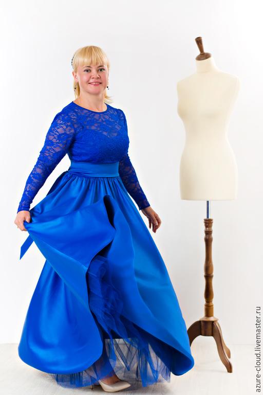 Платья ручной работы. Ярмарка Мастеров - ручная работа. Купить Платье вечернее. Handmade. Разноцветный, Платье нарядное, атлас