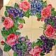 Розы с цветами в венке  - салфетка для декупажа Декупажная радость