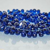 Материалы для творчества ручной работы. Ярмарка Мастеров - ручная работа Шпинель синяя бусины бриолеты 7-12+ мм. Handmade.