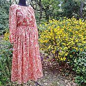 Одежда ручной работы. Ярмарка Мастеров - ручная работа Платье Дыхание весны Хлопок 100%. Handmade.