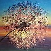 Картины и панно handmade. Livemaster - original item Dandelion at sunset, oil. Handmade.
