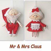 Куклы и игрушки handmade. Livemaster - original item Mr & Mrs Claus Petite dolls. Handmade.
