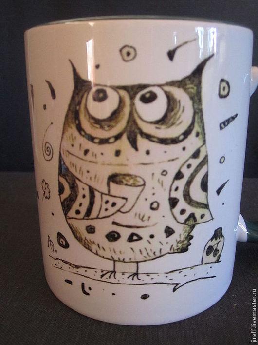 """Бокалы, стаканы ручной работы. Ярмарка Мастеров - ручная работа. Купить """"Сова"""". Handmade. Сова"""