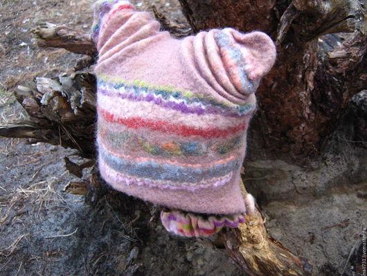 """Шапки и шарфы ручной работы. Ярмарка Мастеров - ручная работа. Купить Шапка """"Лесные зверята"""". Handmade. Комбинированный, шапка детская"""