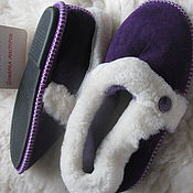 Обувь ручной работы handmade. Livemaster - original item Sheepskin Slippers for grandmothers. Handmade.