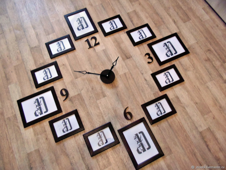 Сделать часы с фоторамками своими руками