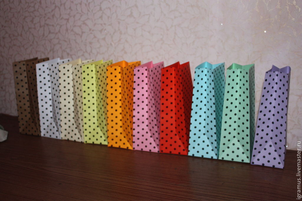 The packaging bag color polka dot, Gift wrap, Moscow,  Фото №1