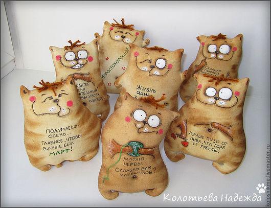 Ароматизированные куклы ручной работы. Ярмарка Мастеров - ручная работа. Купить Коты шкодные. Handmade. Коричневый, кофе, кофе