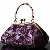 Сумки и аксессуары handmade. Livemaster - original item Velvet handbag, lilac, lace, evening bag, Swarovski. Handmade.
