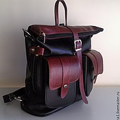 Сумки и аксессуары handmade. Livemaster - original item Backpack-leather bag 9. Handmade.